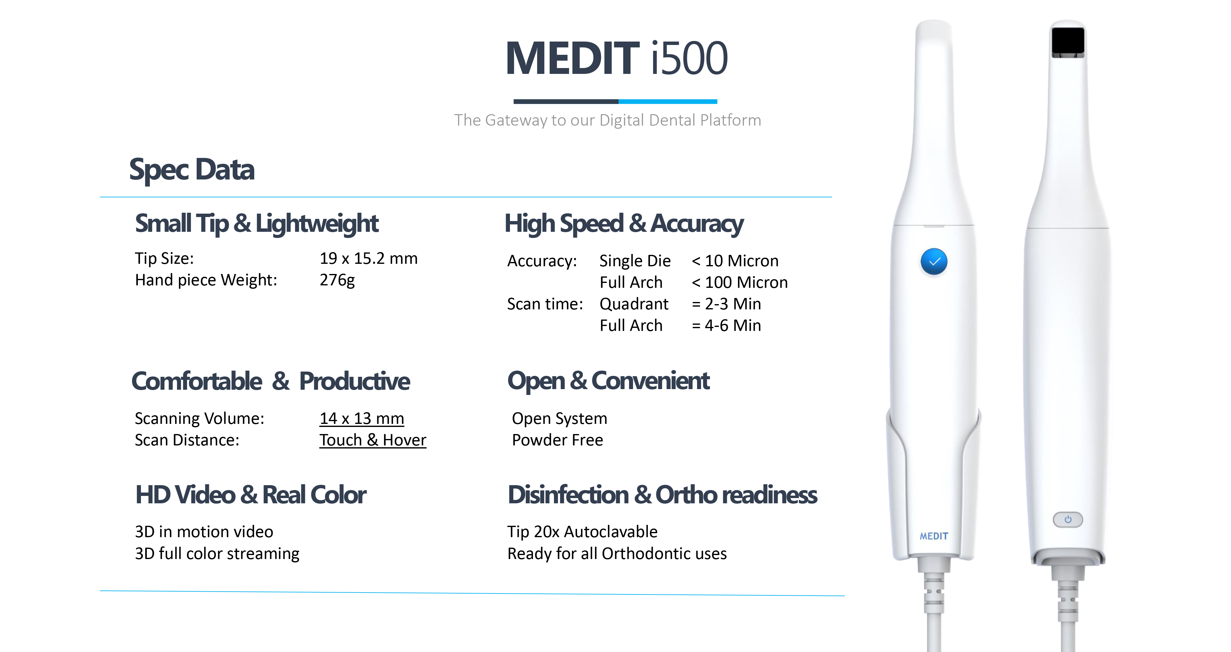 Axsys Dental Solutions  Medit i500 intraoral scanner