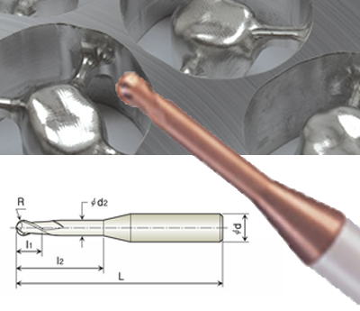 Picture of Origin Compatible TiSiN Coated Carbide Ball-nose End Mills
