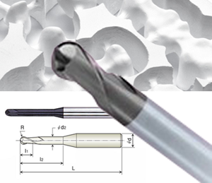 Picture of Roland Compatible Diamond Ball-nose End Mills