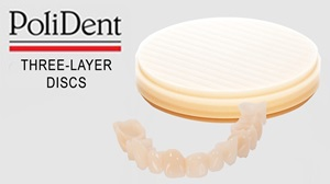 Picture of Polident 3-layer PMMA Discs